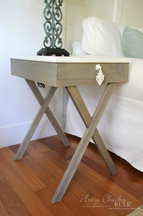 How To Build Criss Cross End Tables (Tutorial) artsychicksrule.com