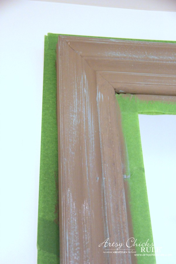 EASY!! DIY Weathered Wood Look with Paint artsychicksrule.com