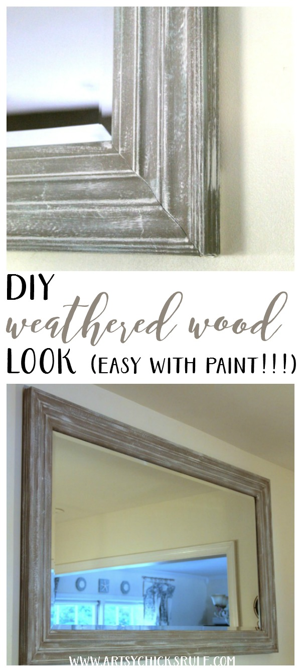 how to make paint look weathered on wood