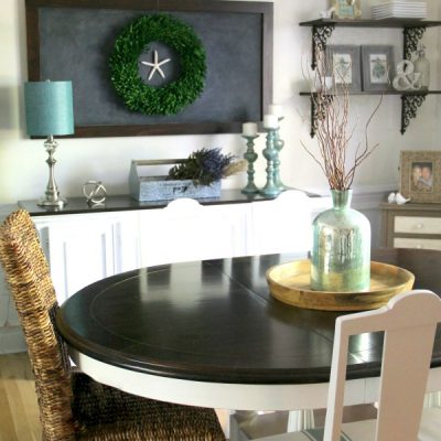 Easy Furniture Makeover (Dining Room...again!)