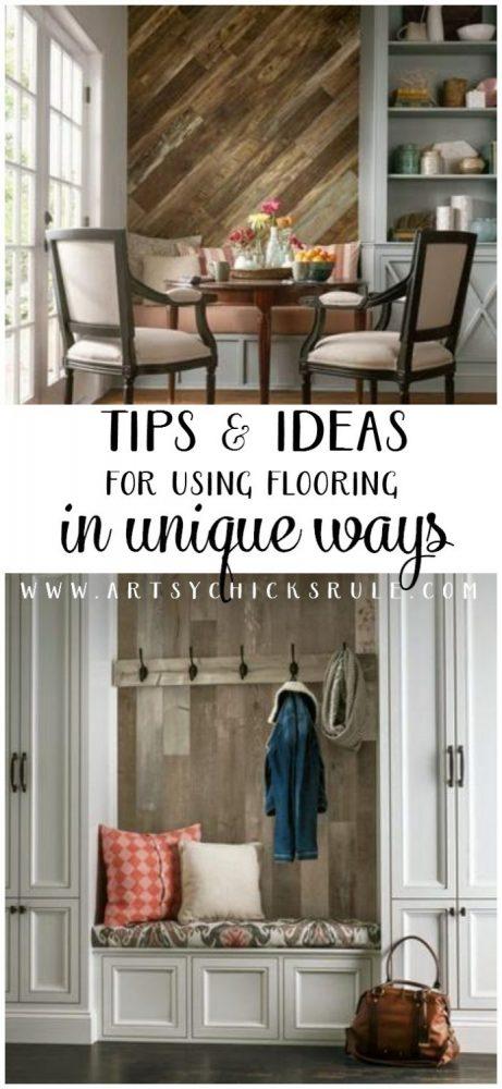 DIY Design Tips for Using Flooring in Unique Ways #flooringamerica #ad artsychicksrule.com