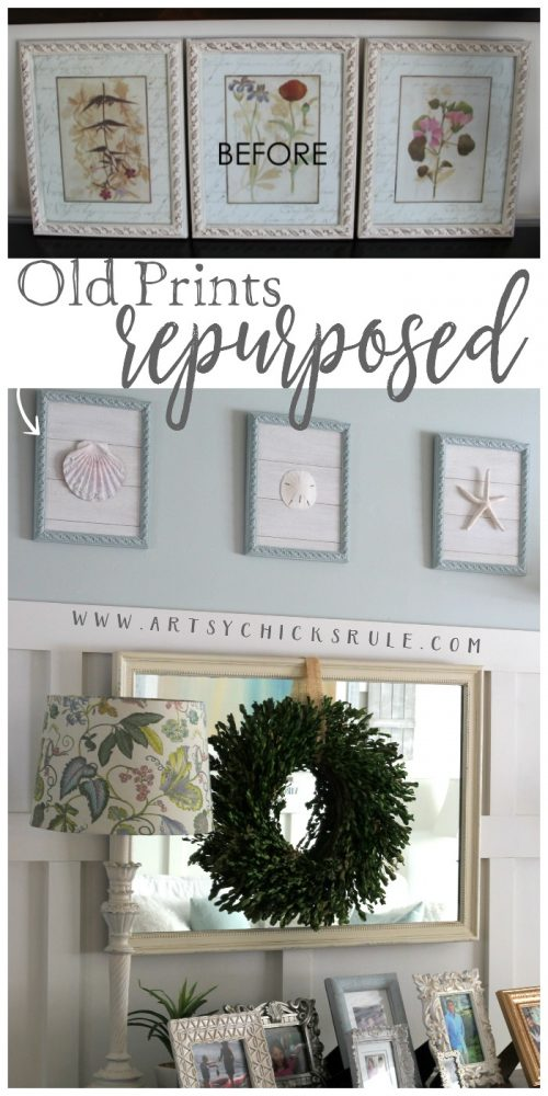 Old Prints Repurposed into Coastal Wall Art! So Pretty! artsychicksrule.com