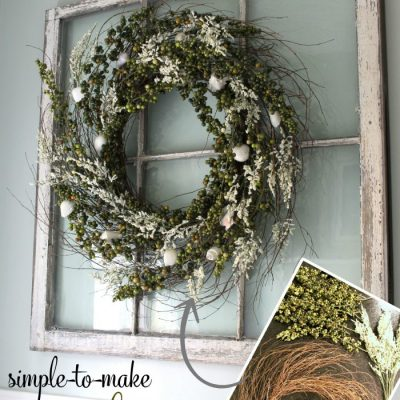 DIY Green Berry Wreath... Gone Coastal