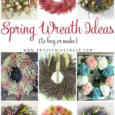Spring Wreath Ideas (to buy or make)