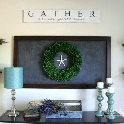 DIY Farmhouse Gather Sign (plus an easy transfer method!)