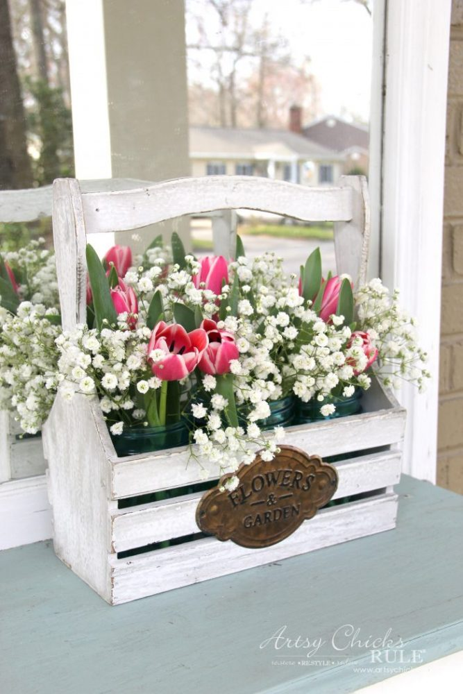 Bring Spring Inside!! Easy to do, Ideas here!! artsychicksrule.com #springdecor #decoratingforspring #bringspringinside