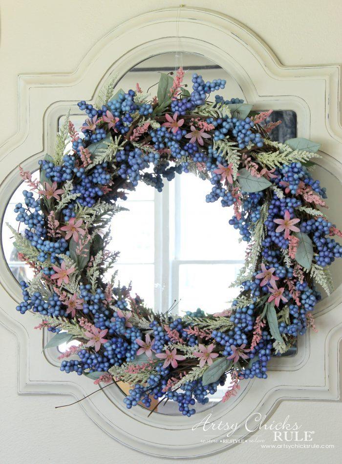 Simple & EASY Spring Wreath! #springwreath #easyspringwreath #diyspringwreath artsychicksrule.com
