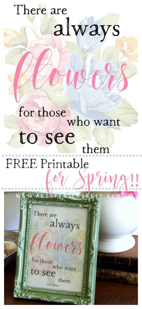 LOVE it!! FREE Spring Printable artsychicksrule.com #freespringprintable #springprintable