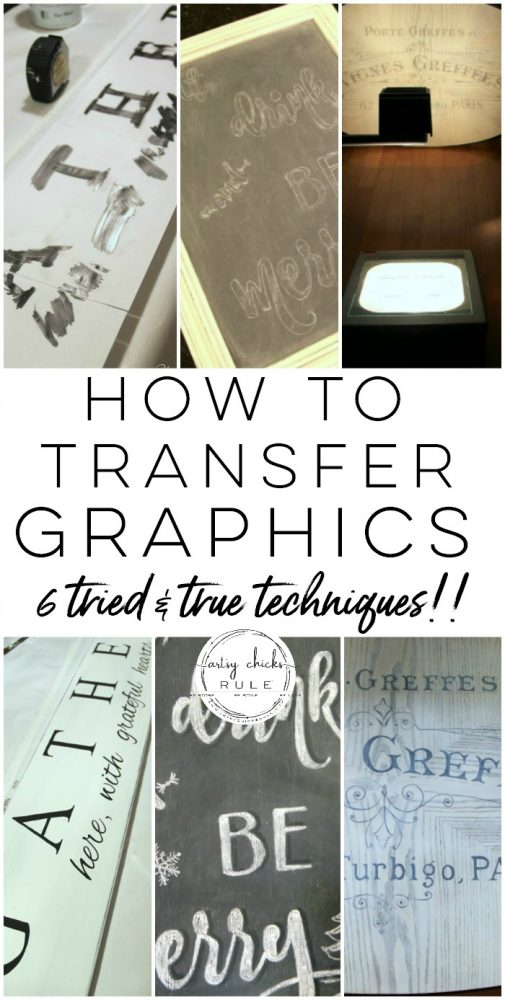 How To Transfer Graphics - 6 Tried & True Techniques!!! artsychicksrule.com #transfergraphics #howtotransfergraphics #transfermethods