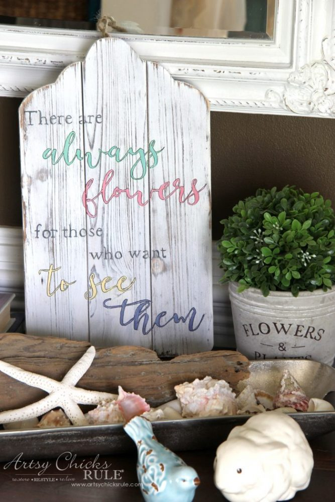 Simple DIY Spring Sign Tutorial artsychicksrule.com