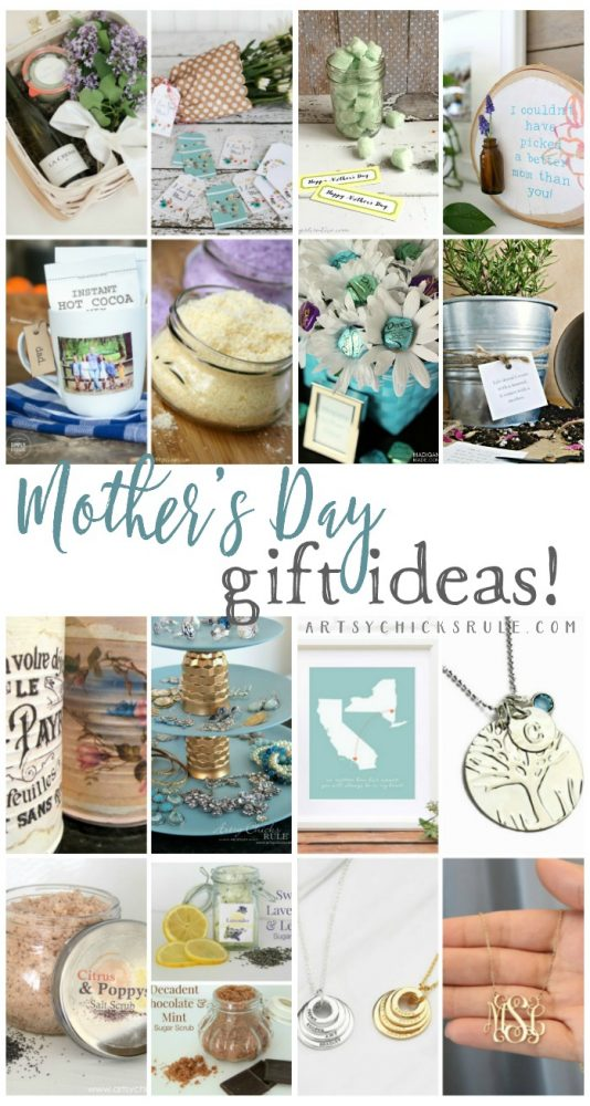 LOTS of great ideas here!!! Mother's Day Gift Ideas - artsychicksrule.com #mothersday