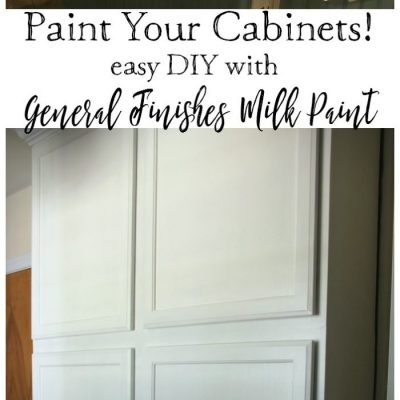 Painted Cabinets with General Finishes Milk Paint (One Room Challenge Week 2)