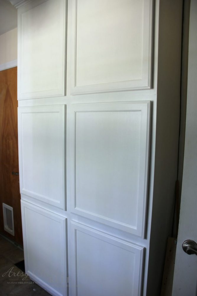 Painted Cabinets with General Finishes Milk Paint - One Room Challenge Week 2 - artsychicksrule.com