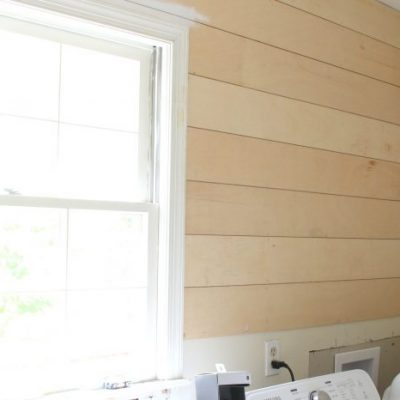 Shiplap Progress and New Lighting (One Room Challenge Week 3)