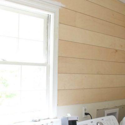 Shiplap Progress and New Lighting (One Room Challenge Week 3)