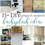 15+ Unique & Creative DIY Backsplash Ideas