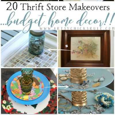 20 Thrift Store Makeovers For Your Home (you can do!)