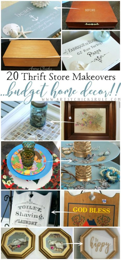 Thrifty Store Makeovers...YOU CAN DO! Budget Friendly Decor! artsychicksrule.com