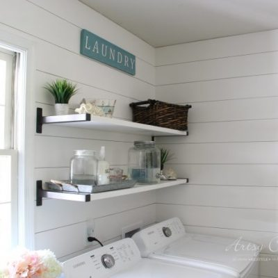 Coastal Farmhouse Laundry (all the details & sources!!)
