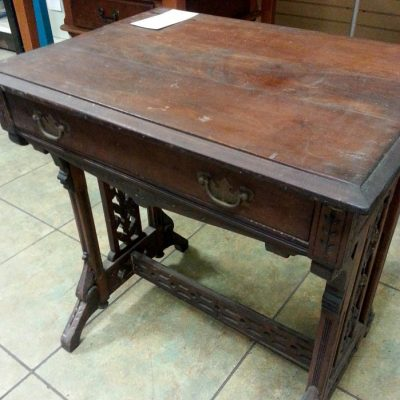 Teal and Red Writing Desk Makeover (with Glue, Screws and Chalk Paint!)