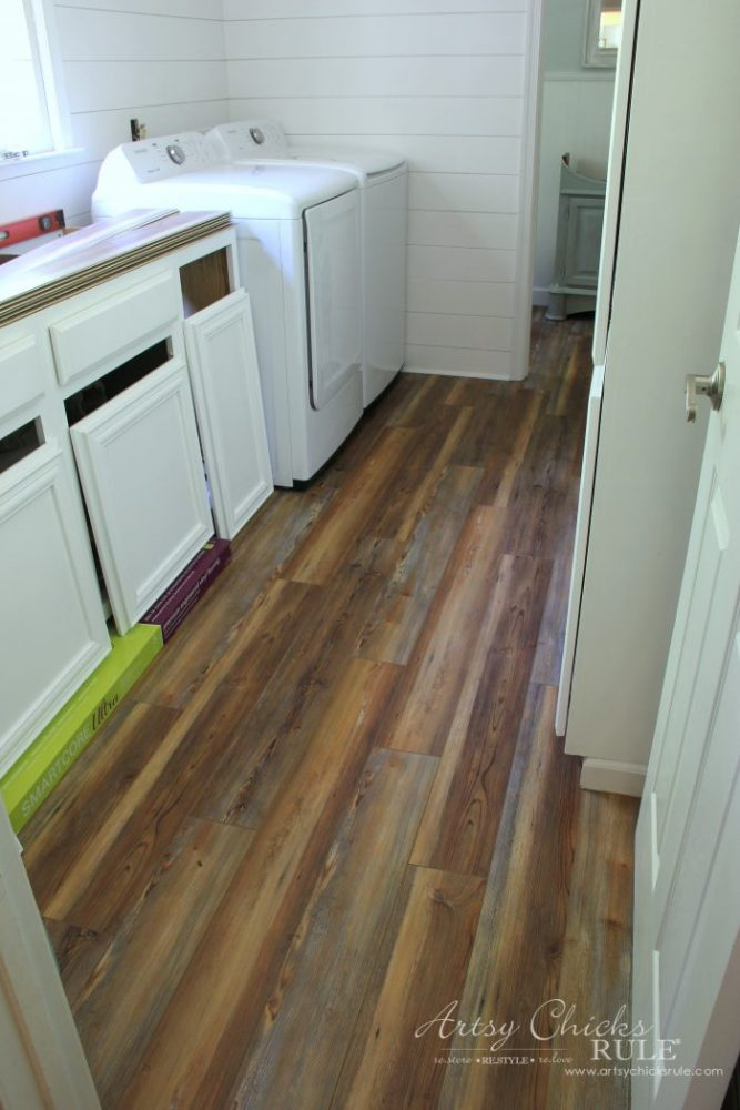 Farmhouse Vinyl Plank Flooring One Room Challenge Week 5 Artsy