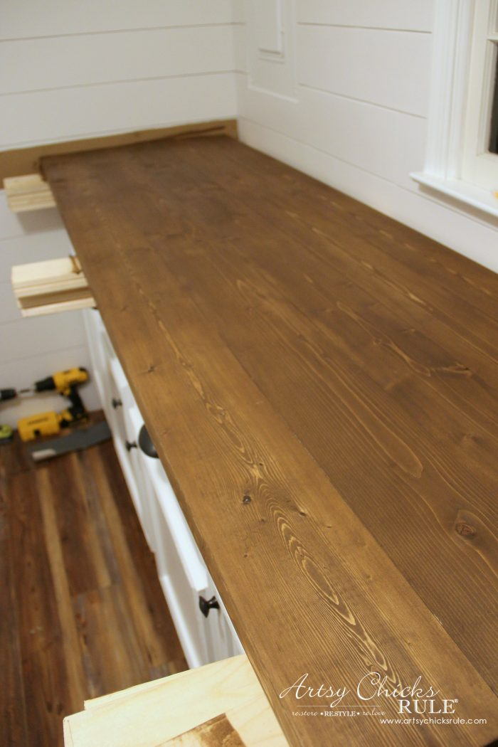 How to make diy wood countertops 12 artsychicksrule for How to make a wood bar countertop