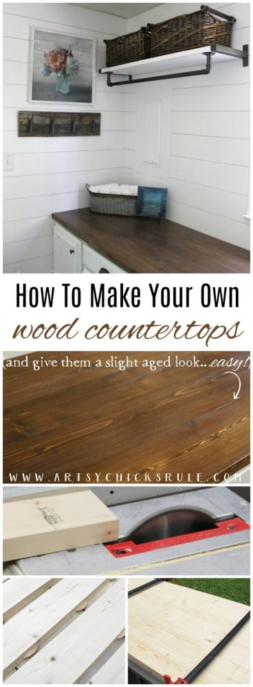 How To Make Your Own Wood Countertops (and Give Them A Slight Aged  Appearance Too