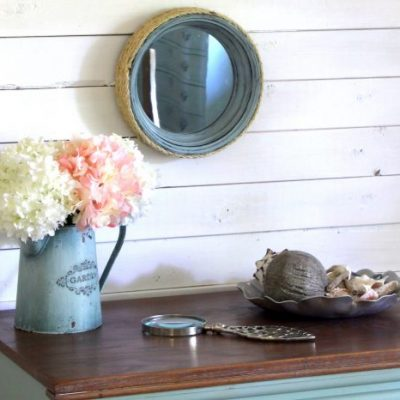 DIY Nautical Porthole Mirrors (thrift store makeover)