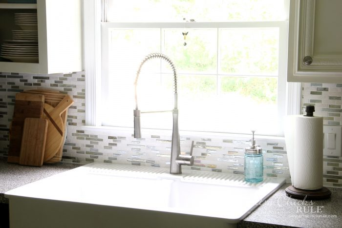 Coastal Inspired Diy Tile Backsplash Tutorial Anyone Can Do
