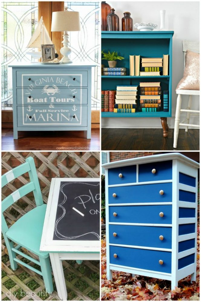 50+ Blue Furniture Makeovers Part 1 artsychicksrule.com