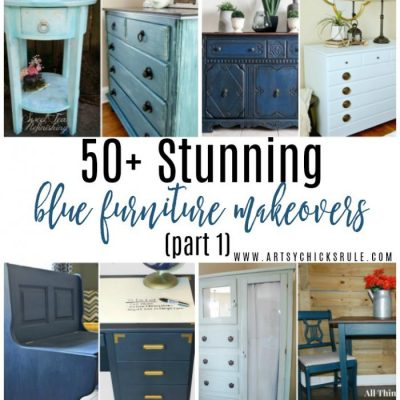 50+ Stunning Blue Furniture Makeovers (Part 1)