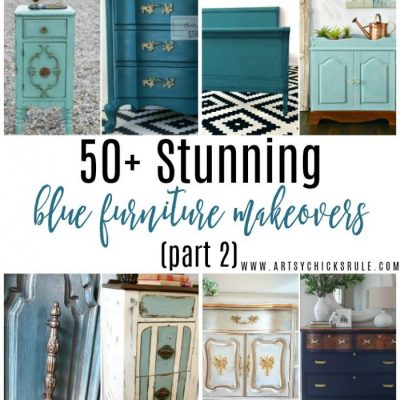 50+ Stunning Blue Furniture Makeover (Part 2)
