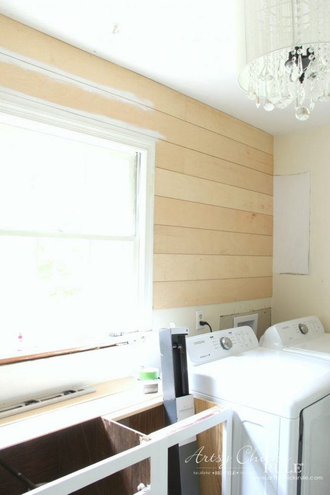 DIY Faux Shiplap (get the look without the expense!) - Artsy Chicks ...