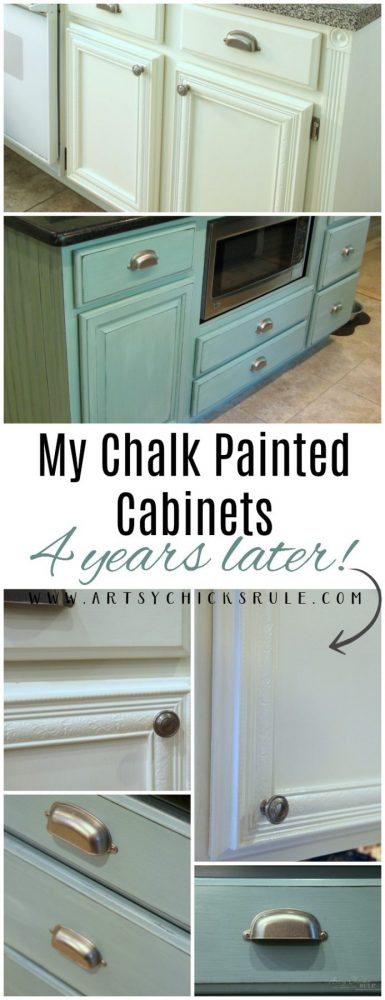 My Chalk Painted Cabinets - 4 Years Later - HOW DID THEY DO? COME SEE!!! artsychicksrule.com #chalkpaintedcabinets #chalkpaint