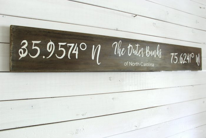 The Outer Banks Longitude Latitude Sign Artsy Chicks Rule
