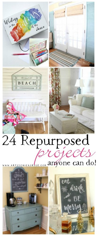 24 REPURPOSED Projects... Anyone Can Do!! artsychicksrule.com