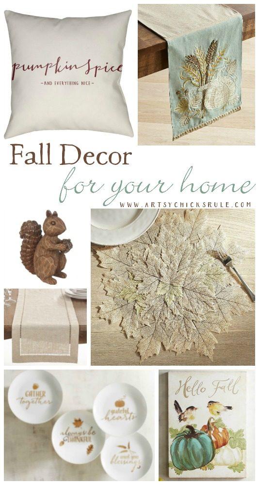 Pretty Fall Decor For Your Home!!! artsychicksrule.com