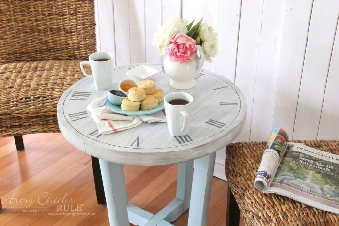 French Country Clock Face Table