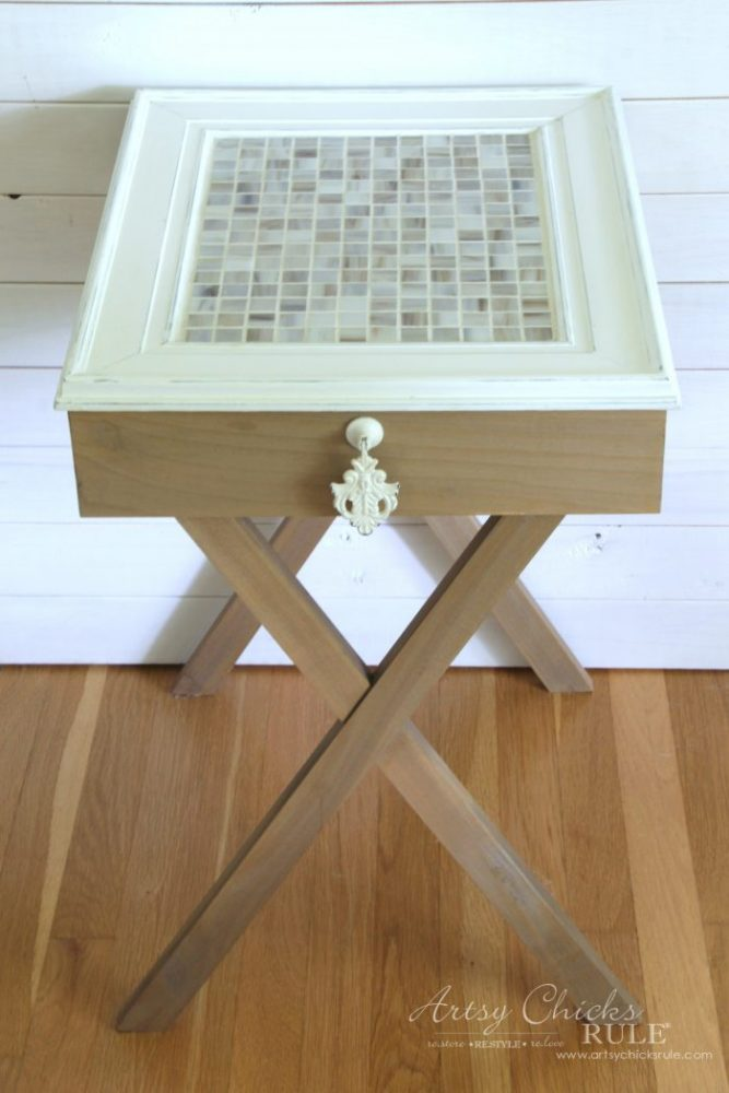 How To Build Criss Cross End Tables Tutorial Artsy Chicks Rule - How to build an end table