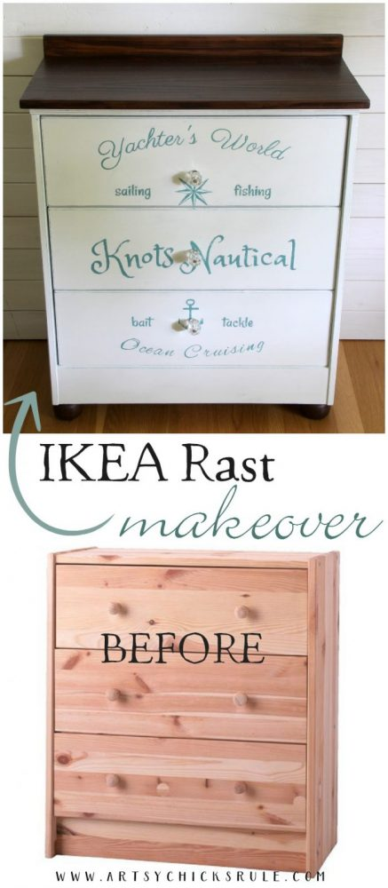 IKEA Rast Makeover (again!!) This time, Nautical Style artsychicksrule.com
