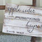Apple Cider, Hayrides and Pumpkins Sign