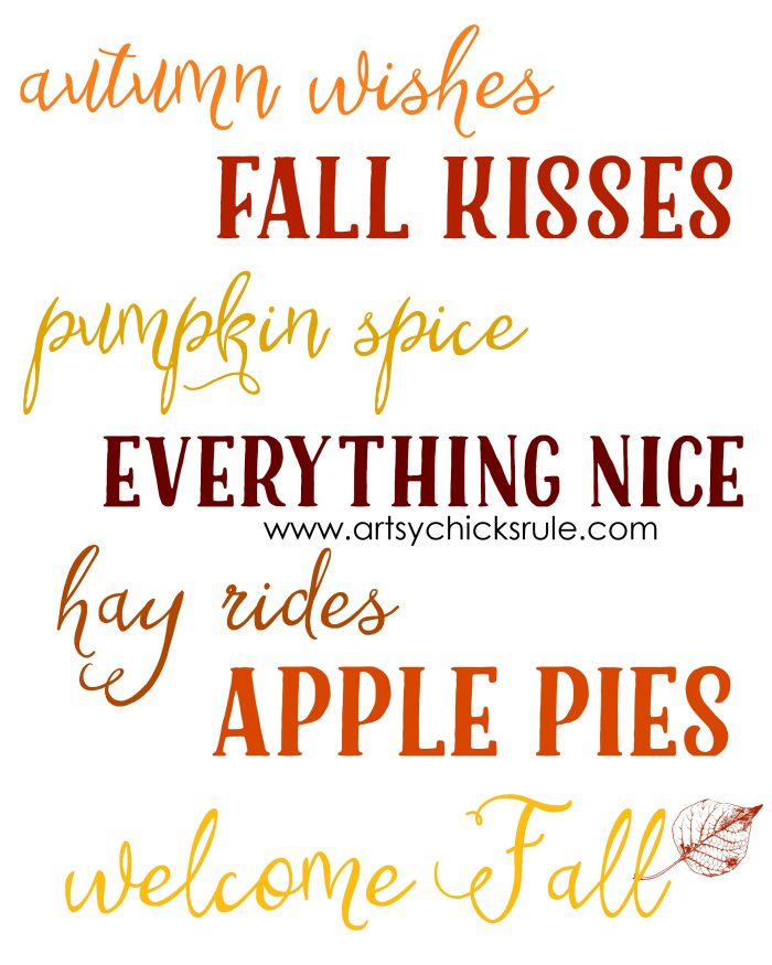 Free Fall Printables For You