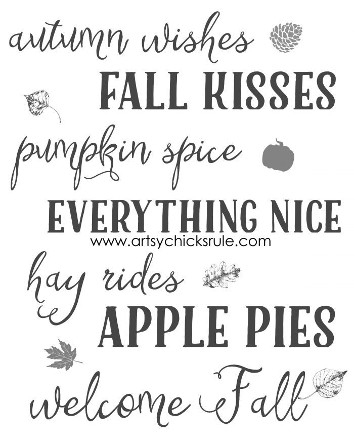 FREE Fall Printables For You!! artsychicksrule.com #freefallprintables #fallprintables