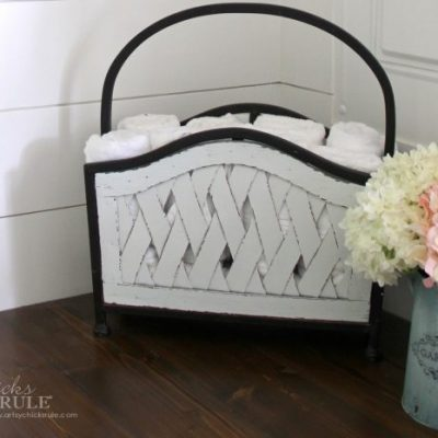 Repurposed Magazine Rack (several uses!!)