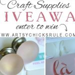 Craft Supplies Giveaway (and more!)
