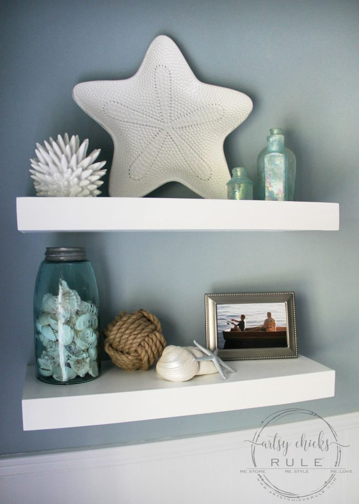 DIY Floating Shelves Tutorial Artsychicksrule