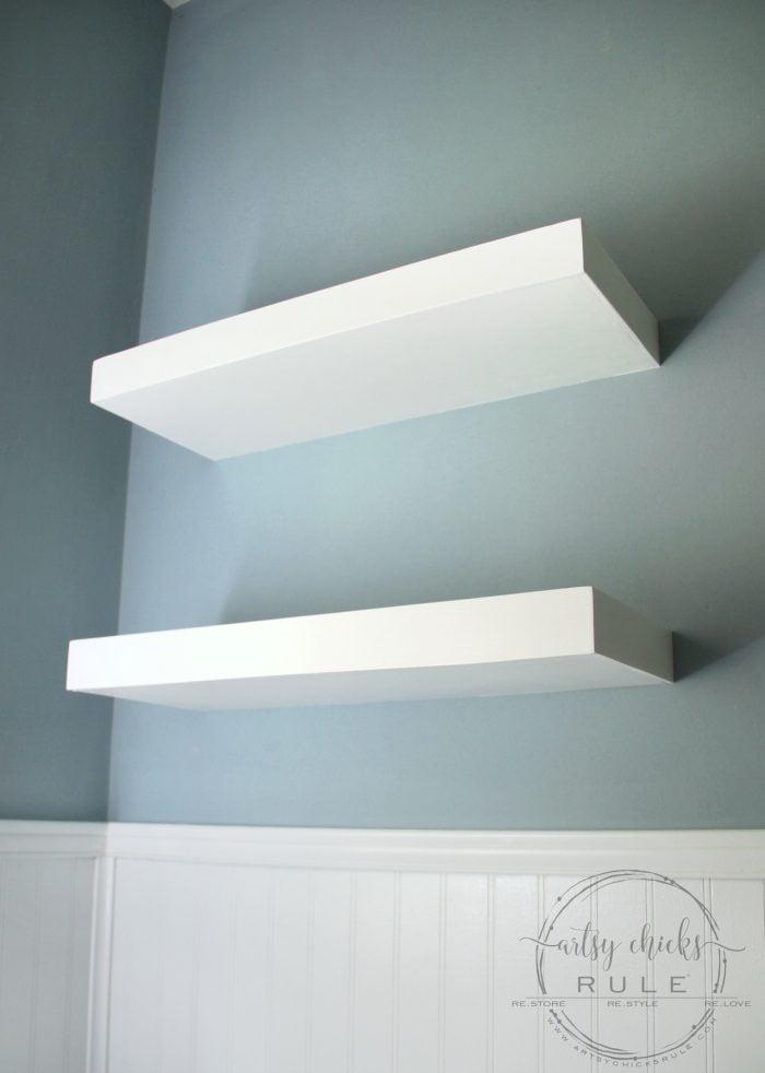 DIY Floating Shelves Tutorial artsychicksrule.com