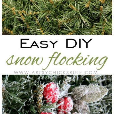DIY Snow Flocking (wreaths, live branches and more!)