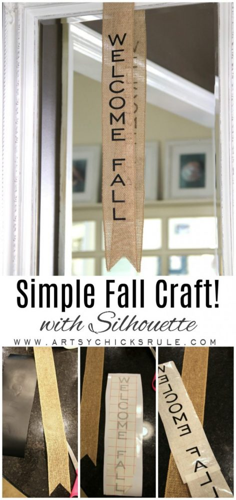 Fall in the Foyer and a SIMPLE Fall Craft!! artsychicksrule.com #fallcraft #falldecor