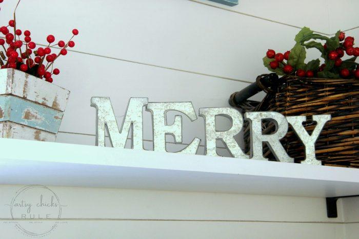 A festive Christmas laundry room!! Lots of coastal touches too! artsychicksrule.com #coastalChristmas #Christmasdecor #Christmaslaundry #laundryroom #holidaydecor #holidayideas